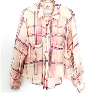 {ANTHROPOLOGIE} Holding Horses Plaid Button Down